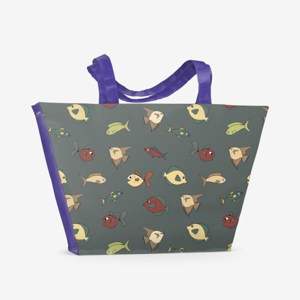 Пляжная сумка «Разноцветные рыбки»