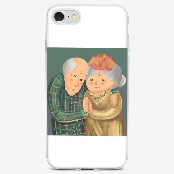 Чехол iPhone «Бабушка и дедушка. Любовь. »