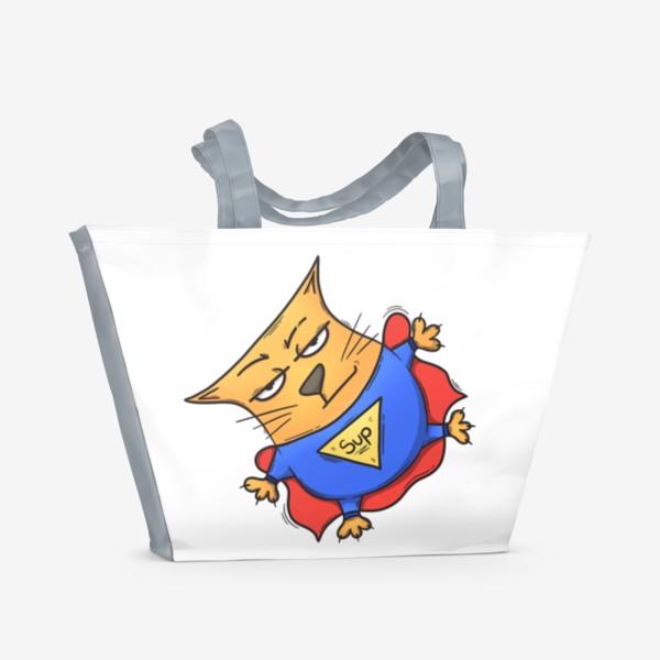 Пляжная сумка «Super cat»
