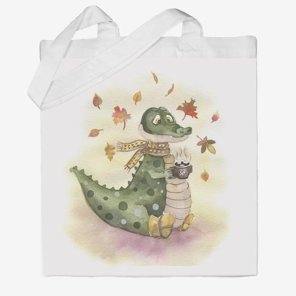 Сумка хб «крокодил осень»
