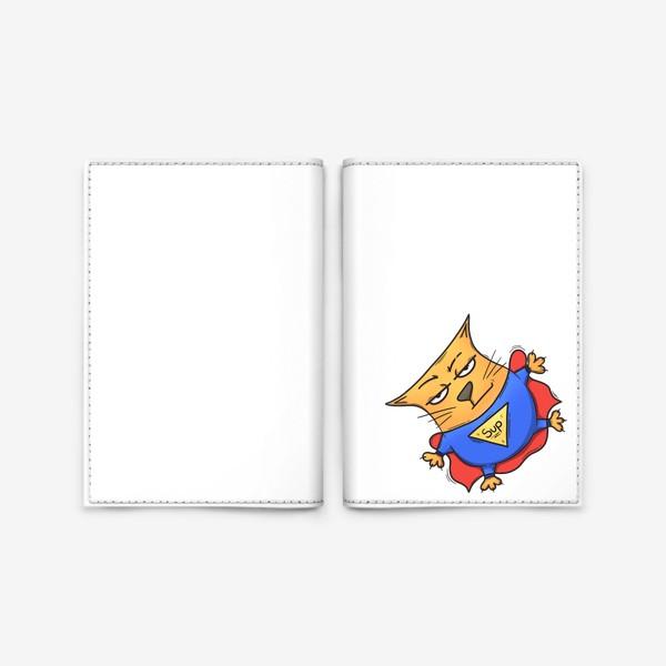 Обложка для паспорта «Super cat»