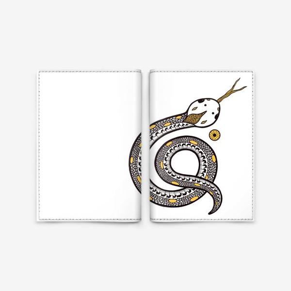 Обложка для паспорта «Душа змеи. Змея в графике»