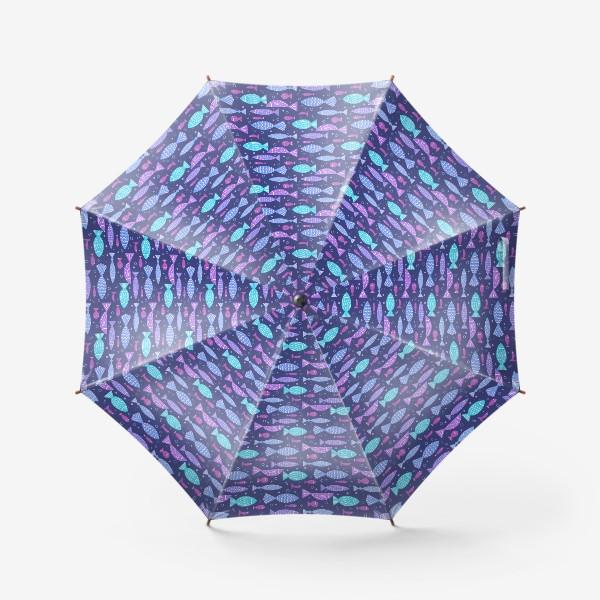 Зонт «Яркие рыбки с узором »