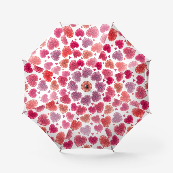 Зонт «Дудл сердца с узором »