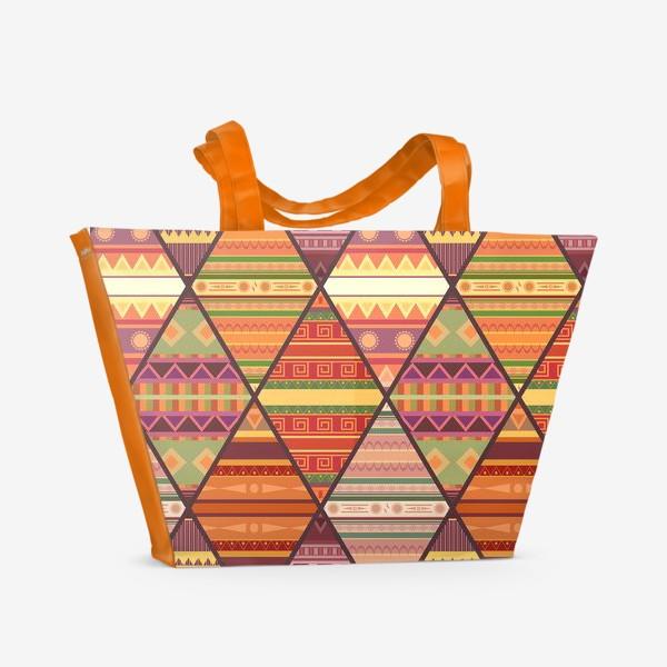 Пляжная сумка «Уютное лоскутное одеяло»