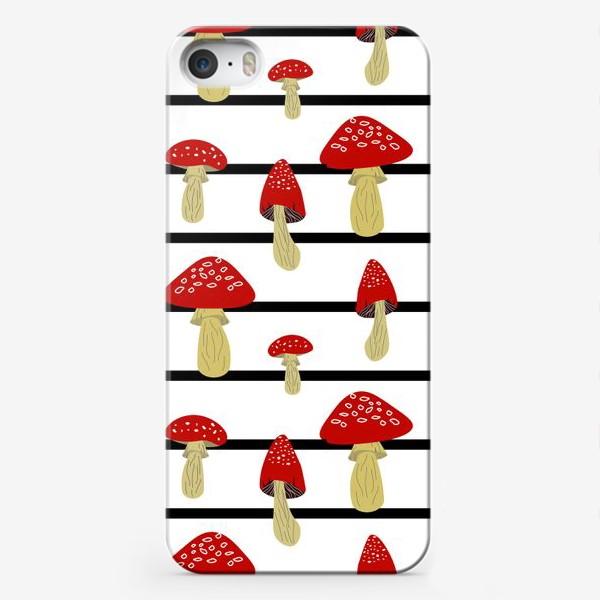 Чехол iPhone «Мухоморы и полосы»