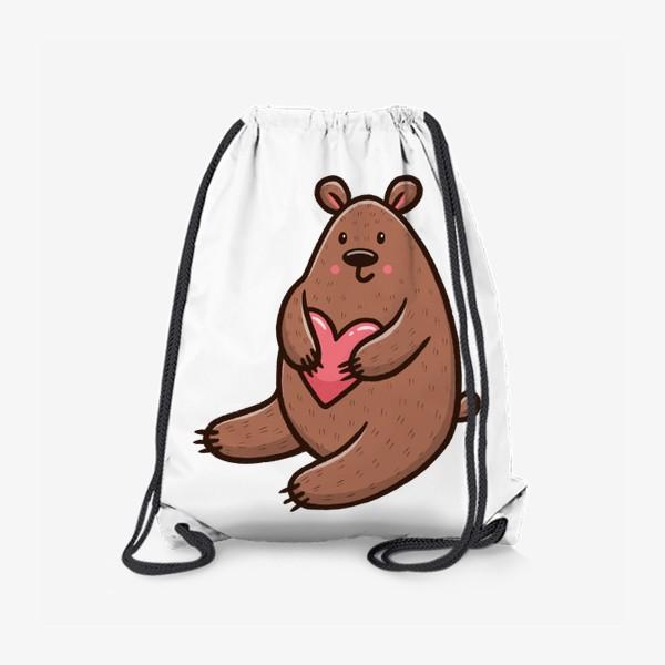 Рюкзак «Милый медведь с сердечком»