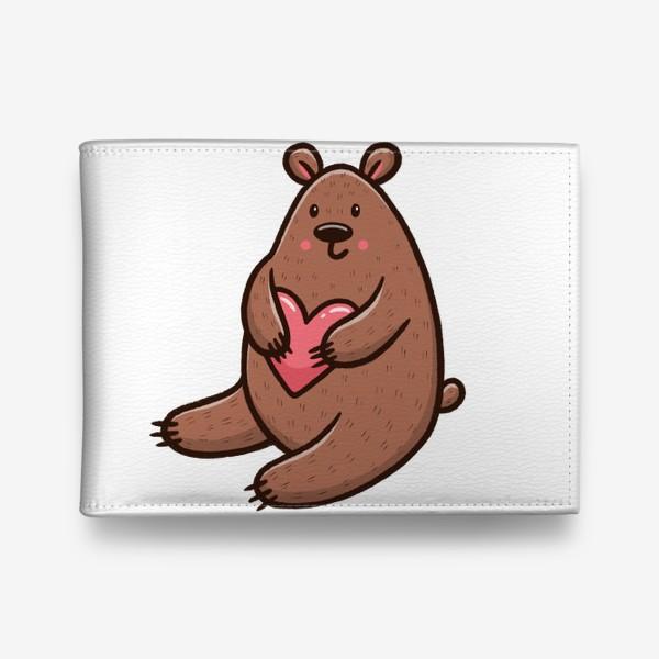 Кошелек «Милый медведь с сердечком»