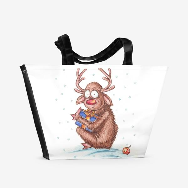 Пляжная сумка «Олень Моя Прелесть»
