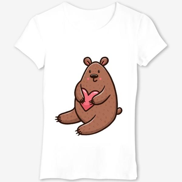 Футболка «Милый медведь с сердечком»