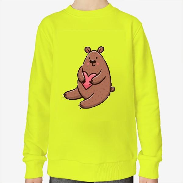 Свитшот «Милый медведь с сердечком»