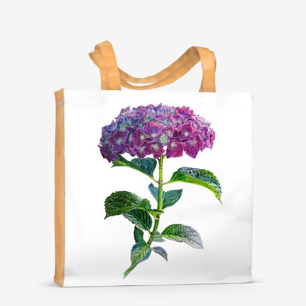 Сумка-шоппер «Цветок Гортензия акварель»