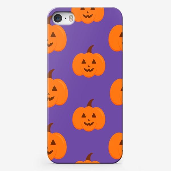 Чехол iPhone «Тыквы на Хэллоуин»