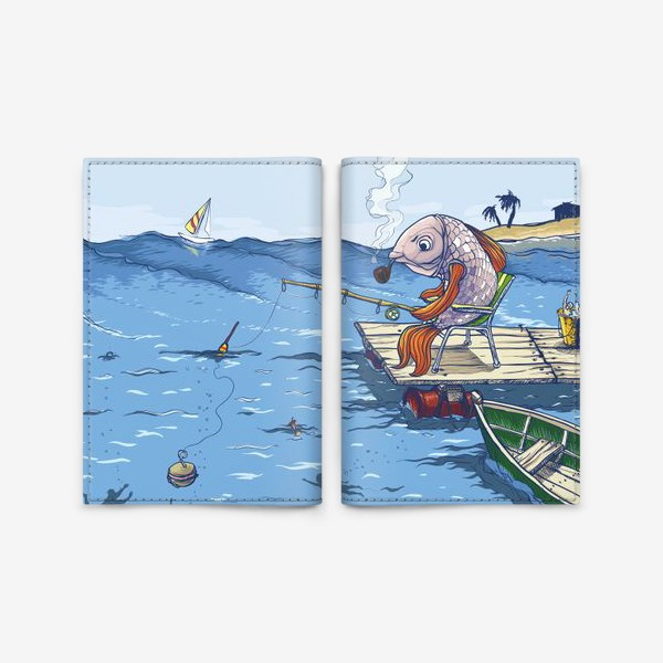 Обложка для паспорта «Manerfish»