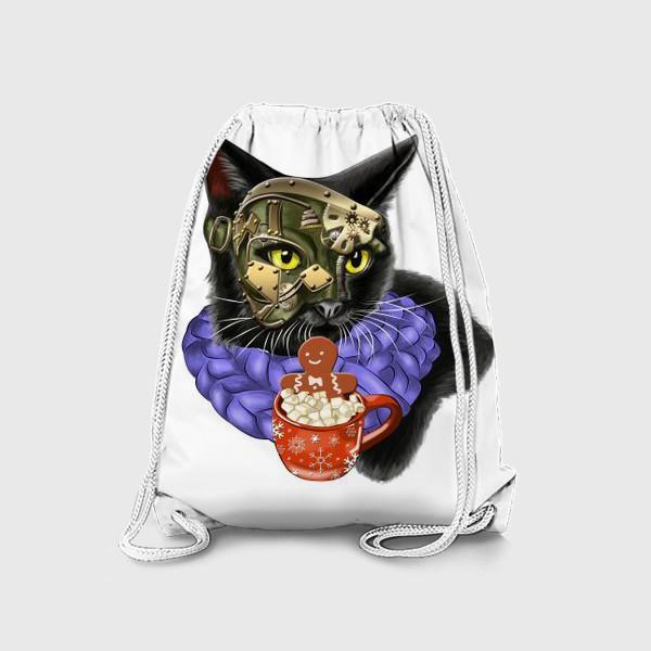 Рюкзак «Кот стимпанк в шарфике»
