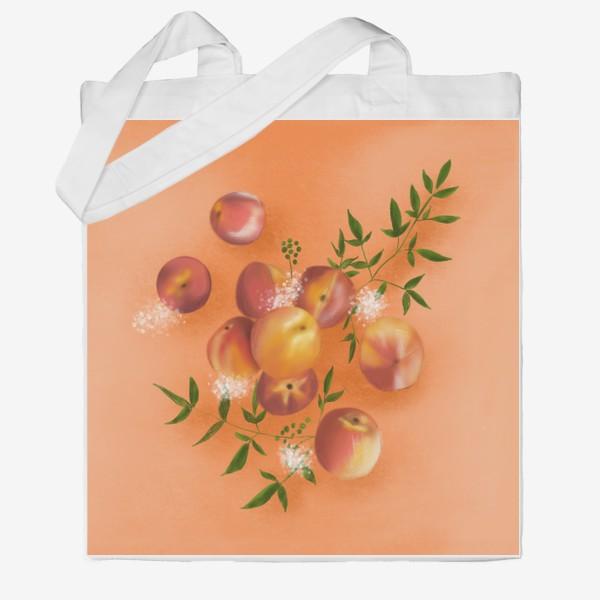 Сумка хб «Персики»