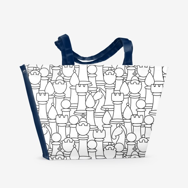 Пляжная сумка «Шахматы. Графика»