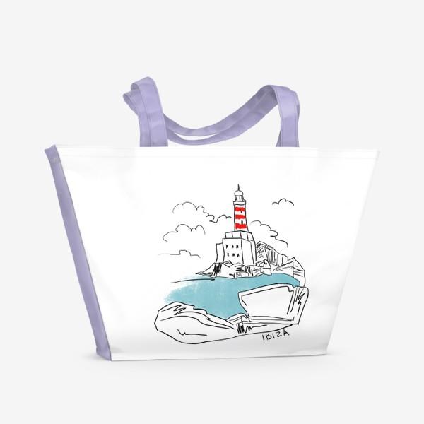 Пляжная сумка «Маяк на Ибице»
