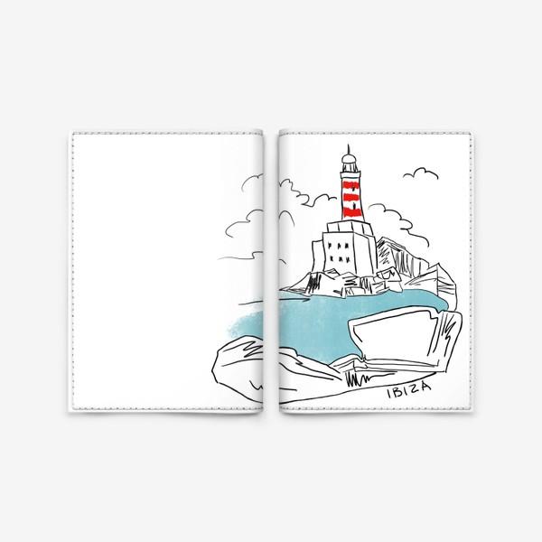 Обложка для паспорта «Маяк на Ибице»