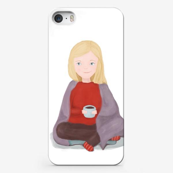 Чехол iPhone «Девочка в пледе»
