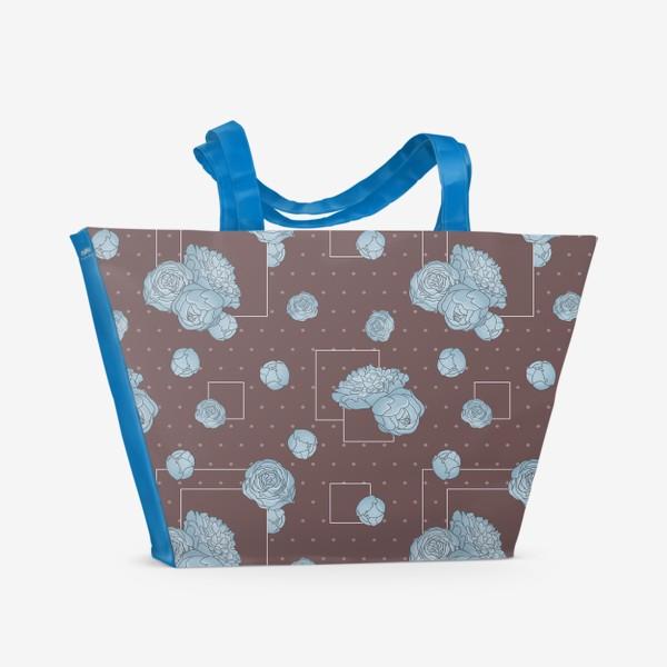 Пляжная сумка «Pions_blue»