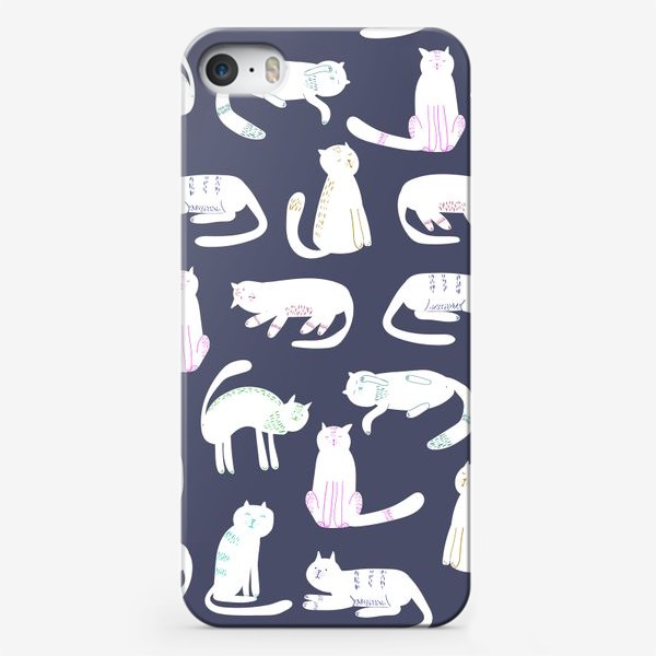 Чехол iPhone «белые коты»
