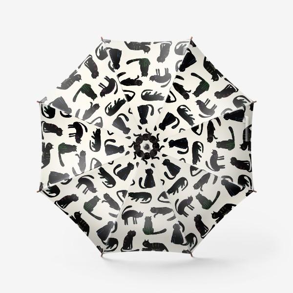 Зонт «чёрные кошки»