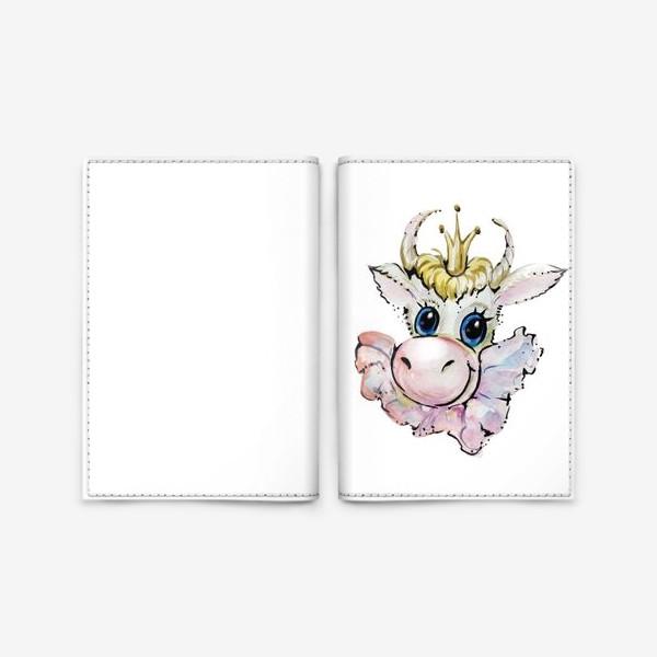 Обложка для паспорта «Коровушка принцесса»