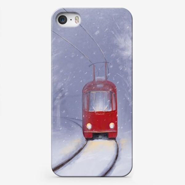 Чехол iPhone «Снежный трамвай»
