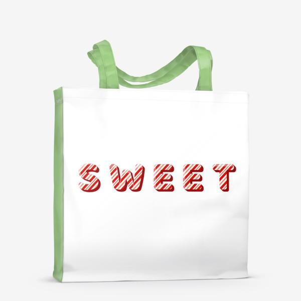 Сумка-шоппер «Надпись sweet»
