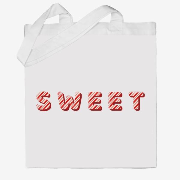 Сумка хб «Надпись sweet»