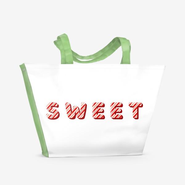 Пляжная сумка «Надпись sweet»