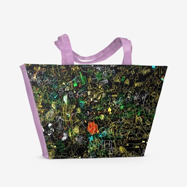 Пляжная сумка «Почеркушки от Илюшки»