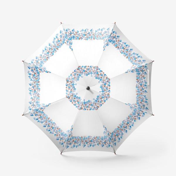 Зонт «Голубые сердечки»