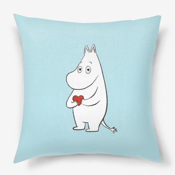Подушка «Муми-тролль 8 марта  День Святого Валентина »
