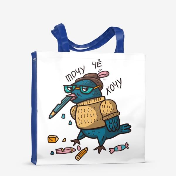 Сумка-шоппер «воробей и карандаши»