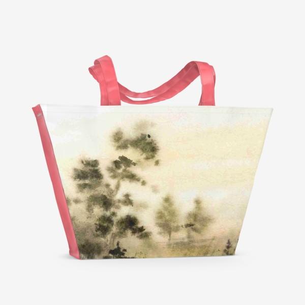 Пляжная сумка «Осень в тумане»