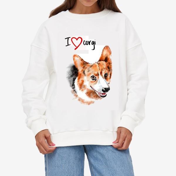 Свитшот «Я люблю корги. I love corgi»