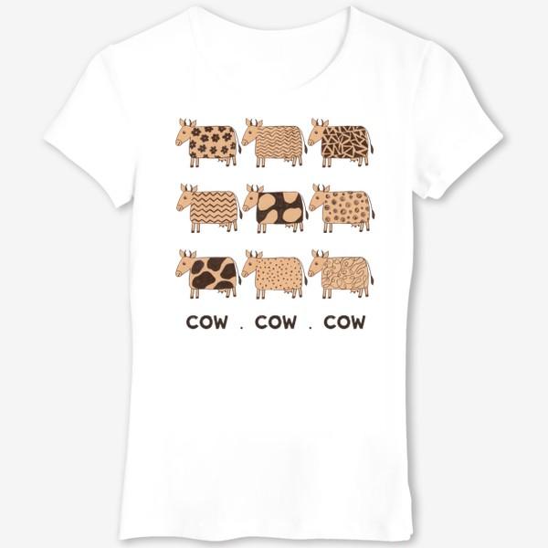 Футболка «2021-й год коровы (COW COW COW)»