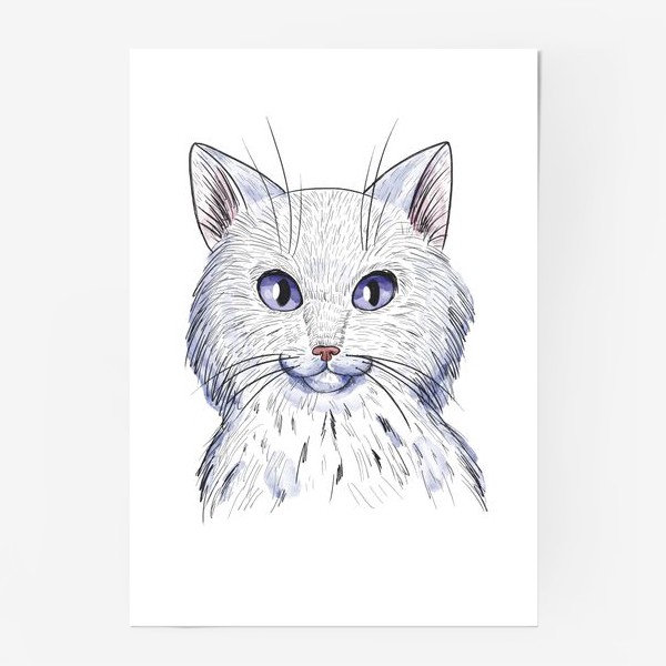 Постер «Кот акварель»