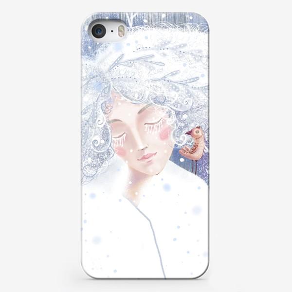 Чехол iPhone «Девушка зима»