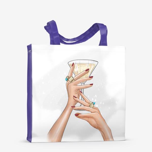 Сумка-шоппер «Руки девушки с коктейлем»