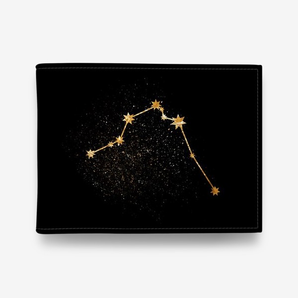 Кошелек «Водолей. Созвездие. Золото»