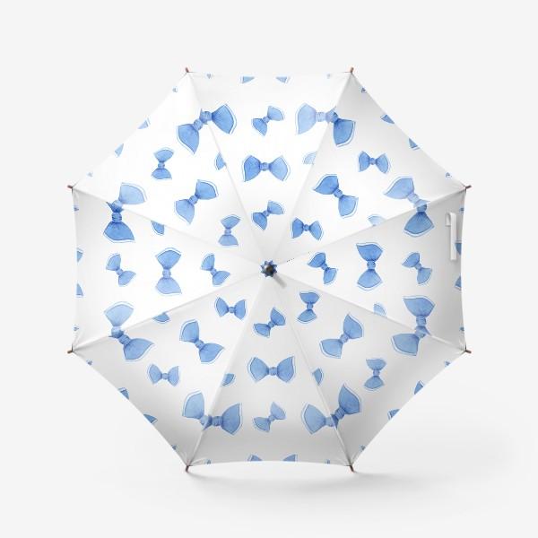 Зонт «Синие бантики»