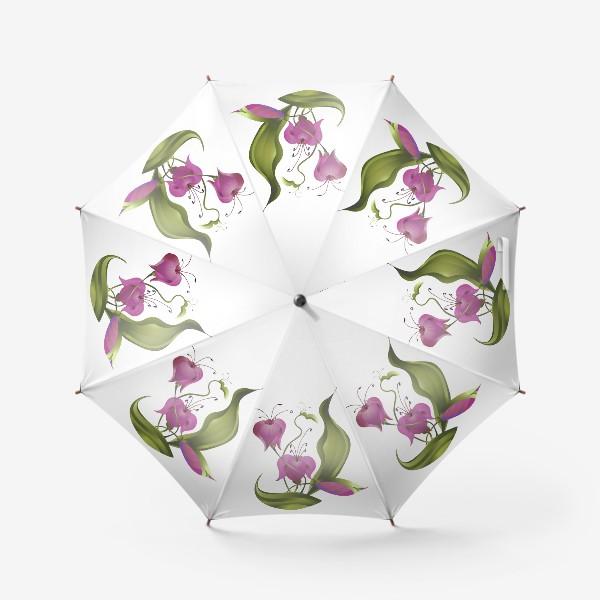 Зонт «Розовые цветы.»