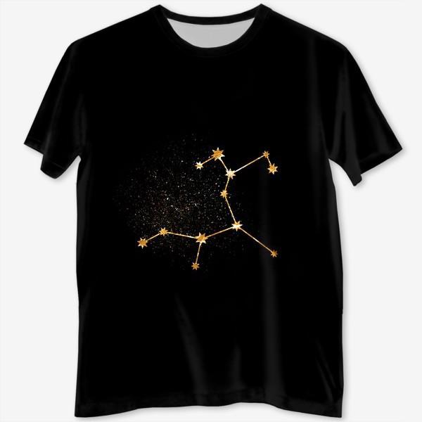 Футболка с полной запечаткой «Стрелец. Созвездие. Золото»