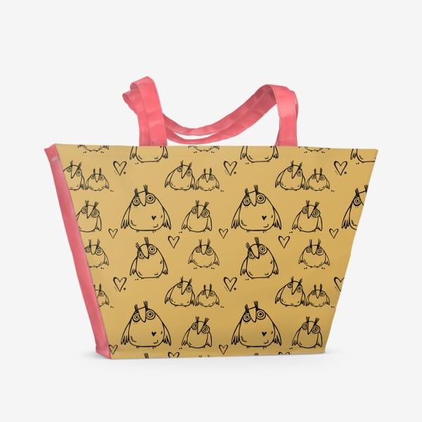 Пляжная сумка «Совушки»