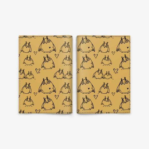 Обложка для паспорта «Совушки»