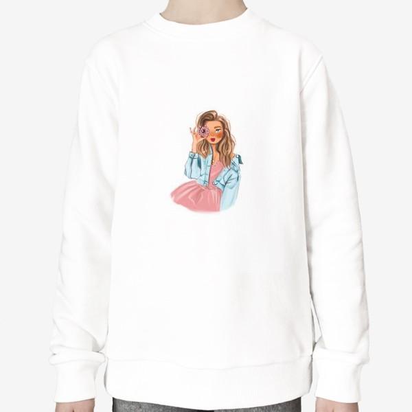 Свитшот «девушка с пончиком »