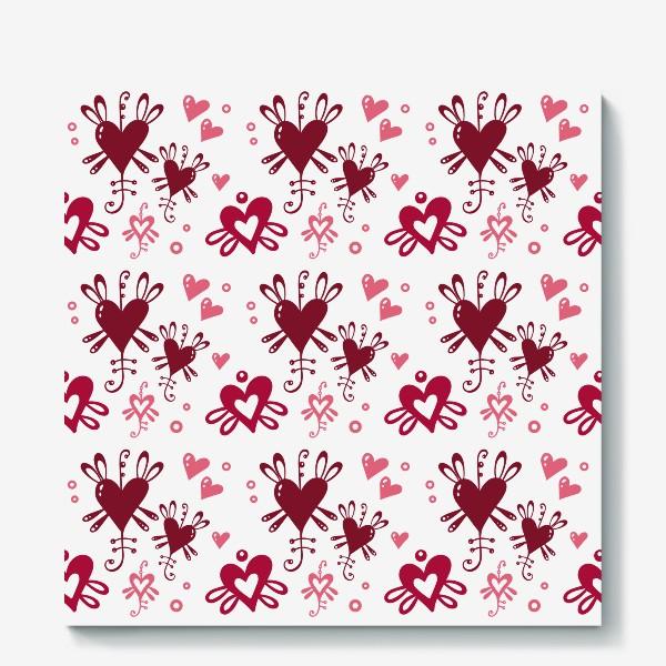 Холст «С днем святого Валентина. »